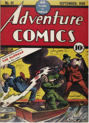 Adventure Comics #42: Sandman appearance