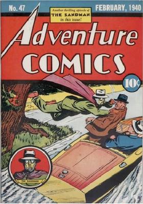 Adventure Comics #47. Click for values
