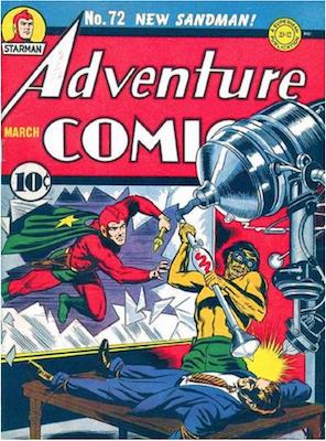 Adventure Comics #72. Click for values.