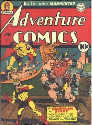 Adventure Comics #75. Click for values.