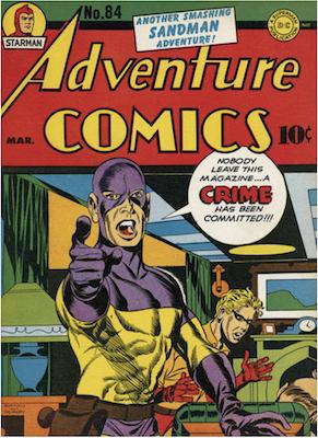 Adventure Comics #84. Click for values.