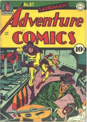 Adventure Comics #87. Click for values.