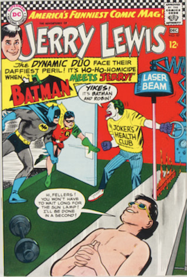 Adventures of Jerry Lewis #97: Joker, Riddler, Batman and Robin appearance. Click for values