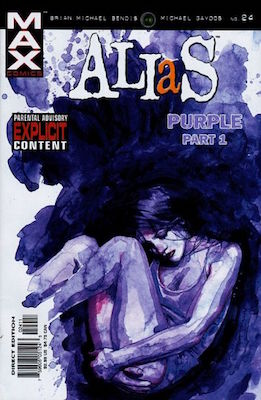 Alias Comic #24: 1st Appearance of modern Purple Man. Click for value