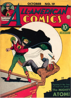 All-American Comics #19: First appearance of GA Atom. Click for values