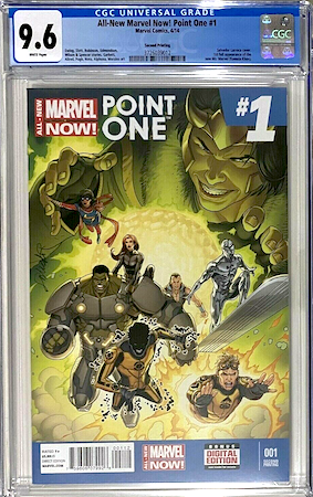 We recommend looking for a CGC 9.6 of All New Marvel NOW Point One 1. Click to buy a copy