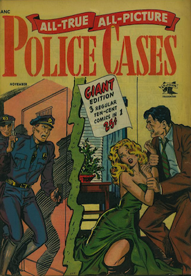 All-True, All-Picture Police Cases #2. RARE. Matt Baker cover. Click for values