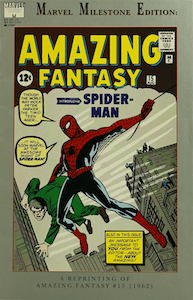Amazing Fantasy 15 REPRINT: Marvel Milestone Edition, limited value. Click to see prices
