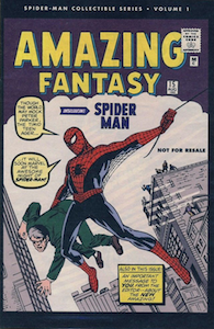 Amazing Fantasy 15 REPRINT: Marvel Spider-Man Collectible Series Edition, limited value. Click to see prices