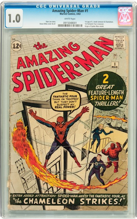 THIS Amazing Spider-Man #1 in CGC 1.0... with most of the damage on the back?