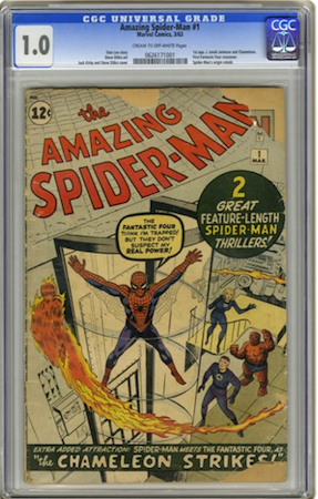 THIS Amazing Spider-Man#1 in CGC 1.0... with pieces missing... OR MAYBE...