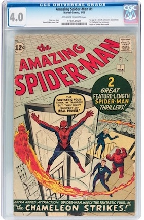 Rising in value as Amazing Fantasy #15 gets priced out of range for most collectors, Amazing Spider-Man #1 in VG looks great and is almost as important a book.