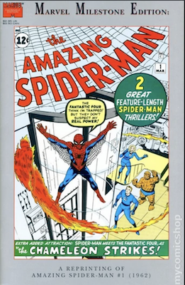 Amazing Spider-Man 1 Marvel Milestone edition has a silver border around the cover edge, and is of limited value