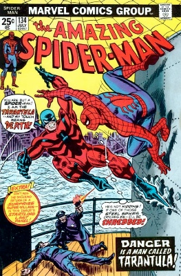 Origin and First Appearance, Tarantula, Amazing Spider Man #134, Marvel Comics, 1974. Click for values