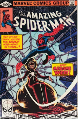 Amazing Spider-Man #210, 1st Madame Web. Click for values
