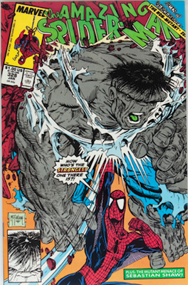 Amazing Spider-Man #328: Spidey vs Hulk vs Thor. Click for values