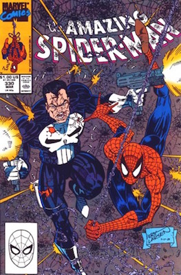 Amazing Spider-Man #330: Erik Larsen Punisher Cover. Click for values