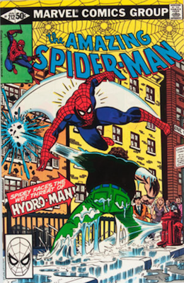Amazing Spider-Man#212: first appearance of Hydro-Man. Click for values