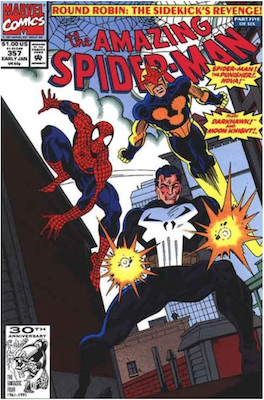 Amazing Spider-Man #357. Click for values.