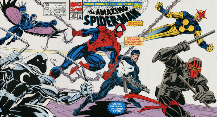Amazing Spider-Man #358. Click for values.