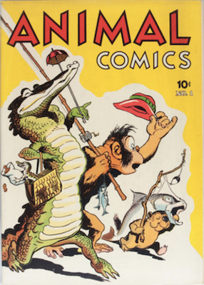 Animal Comics #1 (1942): 1st appearance of Pogo by Walt Kelly. Click for values