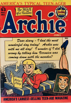 Archie Comics #53. Click for current values.