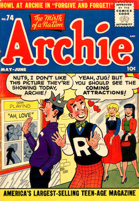 Archie Comics #74. Click for current values.