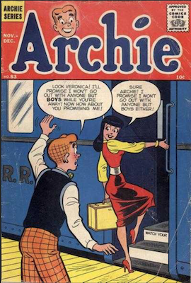 Archie Comics #83. Click for current values.