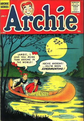 Archie Comics #93. Click for current values.