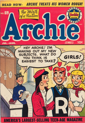 Archie Comics #69. Click for current values.