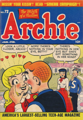 Archie Comics #72. Click for current values.