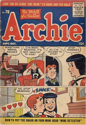 Archie Comics #76. Click for current values.