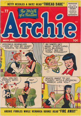 Archie Comics #77. Click for current values.