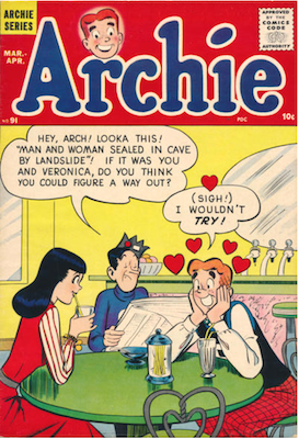 Archie Comics #91. Click for current values.