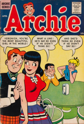 Archie Comics #100. Click for current values.