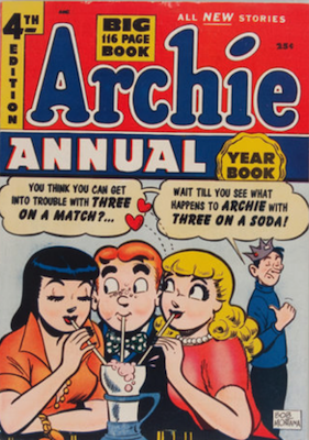 Archie Annual #4: rare in high grade. Click for values