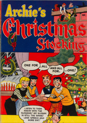 Archie Giant-Size Magazine #1: Archie's Christmas Stocking #1. Rare in high grade. Click for values