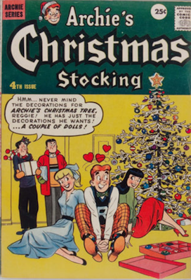 Archie Giant-Size Magazine #4: Archie's Christmas Stocking #4. Rare in high grade. Click for values