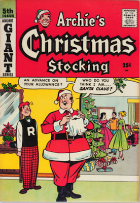 Archie Giant-Size Magazine #5: Archie's Christmas Stocking #5. Rare in high grade. Click for values
