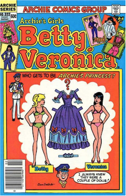 Archie's Girls Betty and Veronica #322. Click for current values.