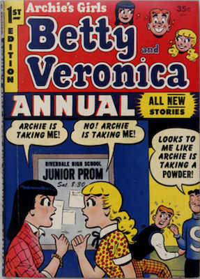 Archie's Girls Betty and Veronica Annual #1. Click for values