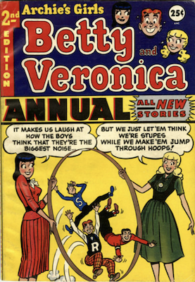 Archie's Girls Betty and Veronica Annual #2. Click for values