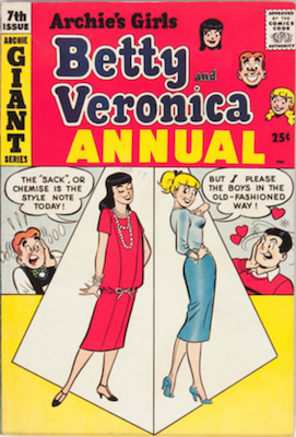 Archie's Girls Betty and Veronica Annual #7. Click for values