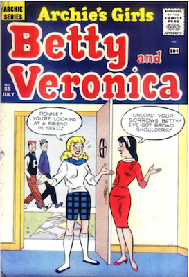 Archie's Girls Betty and Veronica #55. Click for current values.