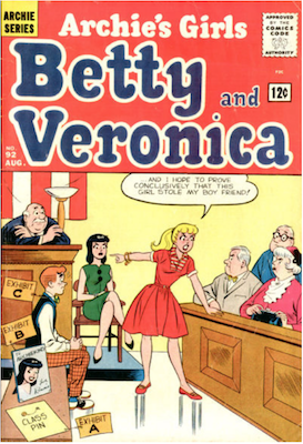 Archie's Girls Betty and Veronica #92. Click for current values.