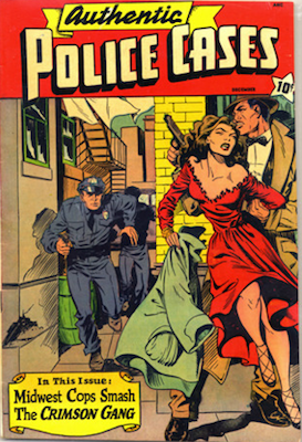 Authentic Police Cases #10. Matt Baker cover. Click for values