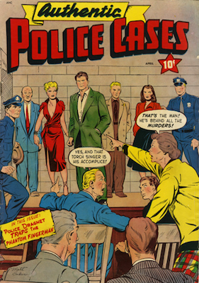 Authentic Police Cases #12. Matt Baker cover. Click for values