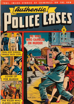 Authentic Police Cases #16, Baker cover. Click for values
