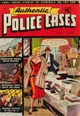 Authentic Police Cases #19: classic Matt Baker cover. Click for values