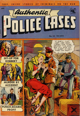 Authentic Police Cases #23: Baker cover. Click for values
